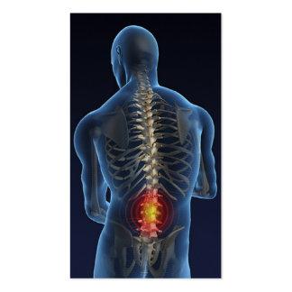 Negocio Card4 del Chiropractor Tarjetas De Visita