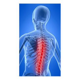 Negocio Card5 del Chiropractor Tarjetas De Visita