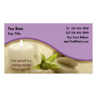 Negocio Card_1 del masaje Tarjetas De Visita