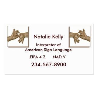 Negocio Card-3 del intérprete Tarjetas De Visita