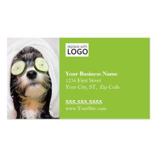 Negocio Card-Spa2 de la preparación del perro Tarjetas De Visita