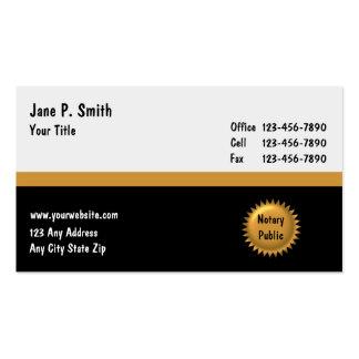 Negocio Cards_2 del notario Tarjetas De Visita