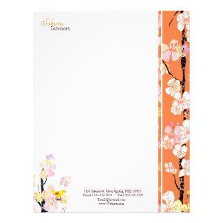 Negocio casero del diseño interior de Sakura Plantillas De Membrete