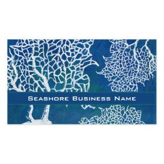 Negocio coralino del agua de la costa del océano tarjetas de visita