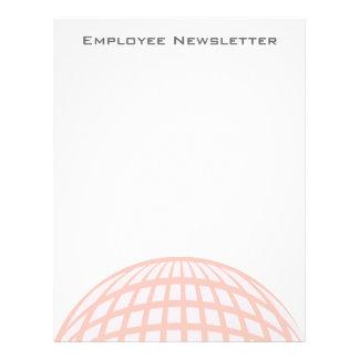 Negocio corporativo del globo en colores pastel de tarjeta publicitaria