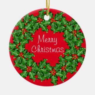 Negocio corporativo del personalizado de la adorno navideño redondo de cerámica