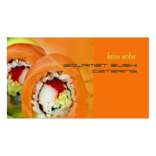 Negocio de abastecimiento gastrónomo del sushi de tarjetas de visita