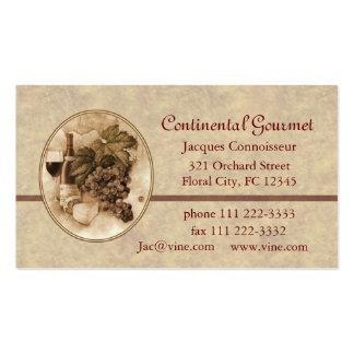 Negocio de abastecimiento tarjetas de visita