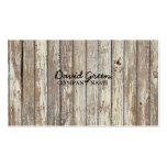 negocio de construcción de madera del grano del pa tarjeta personal