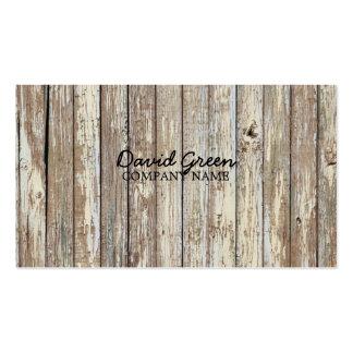 negocio de construcción de madera del grano del pa tarjetas de visita