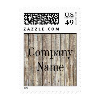 negocio de construcción de madera del grano del sello