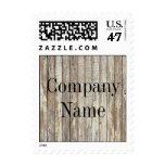 negocio de construcción de madera del grano del sellos postales