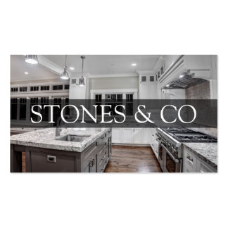 Negocio de construcción de piedra del mármol del tarjetas de visita