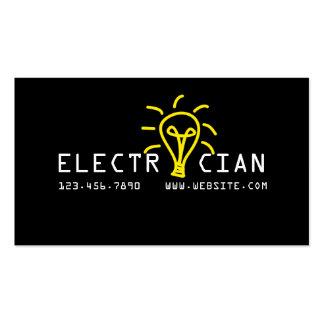 Negocio de construcción eléctrico del electricista tarjetas de visita