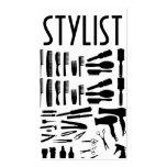 Negocio de la belleza de la peluquería de tarjeta personal