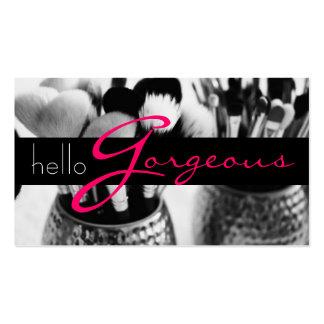 Negocio de la belleza del salón de la cosmetología tarjetas de visita