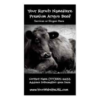 Negocio de la carne de vaca del rancho de ganado o tarjeta de visita