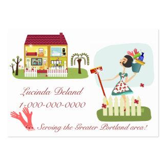 Negocio de la economía doméstica tarjetas de visita grandes