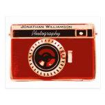 Negocio de la fotografía de la cámara del rojo ric tarjetas postales