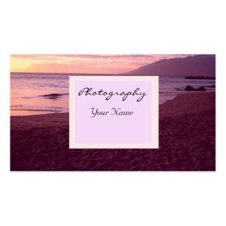 Negocio de la fotografía de la puesta del sol tarjeta de visita