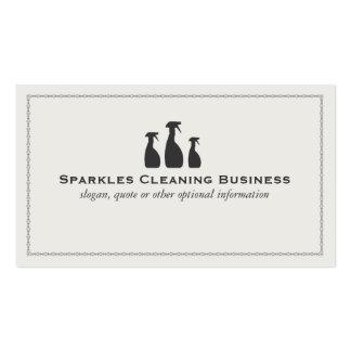 Negocio de la limpieza de la casa tarjetas de visita