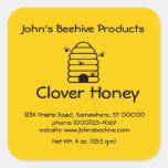 Negocio de la miel del pegatina (lg sq) -