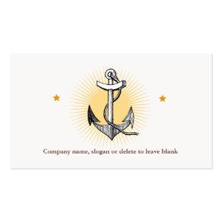Negocio de la navegación del ancla de la nave del tarjetas de visita
