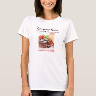 negocio de la panadería de la torta de chocolate playera