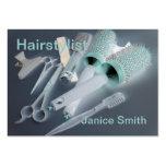 Negocio de la peluquería tarjeta de visita
