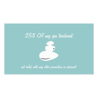 Negocio de la piedra del masaje del balneario y ta plantillas de tarjetas de visita