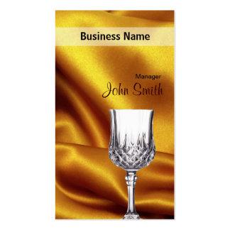 Negocio de la seda de la copa de vino y del oro tarjeta de visita