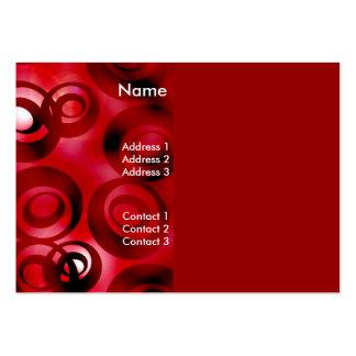 Negocio de la tarjeta del perfil Luner-Rojo Tarjeta Personal