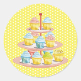 Negocio de la tienda de pasteles de la panadería pegatina redonda