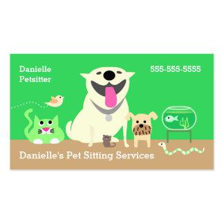 Negocio de los canguros del mascota Tarjeta-verde Tarjetas De Visita