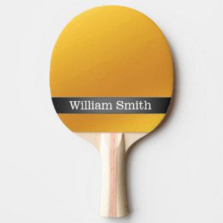 Negocio de lujo del oro y del carbono pala de ping pong