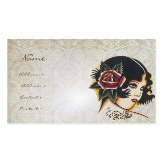 Negocio de moda del boutique del rosa de damasco tarjetas de visita