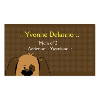 Negocio de moda del perro de perrito/tarjeta de vi tarjetas de visita