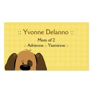 Negocio de moda del perro de perrito/tarjeta de vi tarjetas personales