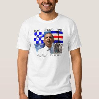NEGOCIO de Obama COMO camiseta USUAL Playera