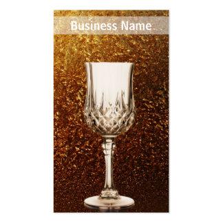 Negocio de oro de la copa de vino tarjeta de visita