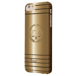 Negocio de oro y abogado legal funda para iPhone 6 plus barely there