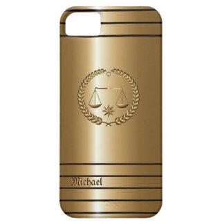 Negocio de oro y abogado legal iPhone 5 carcasas