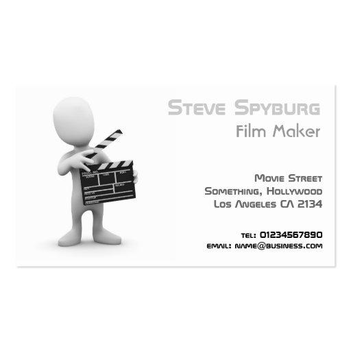 Negocio de película Movie Maker Tarjetas De Visita