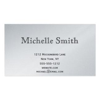 Negocio de plata ejecutivo simple del llano del pl tarjeta personal