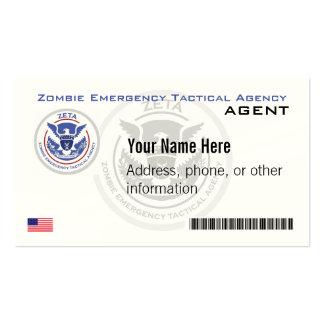 Negocio de representación táctico de la emergencia tarjetas personales