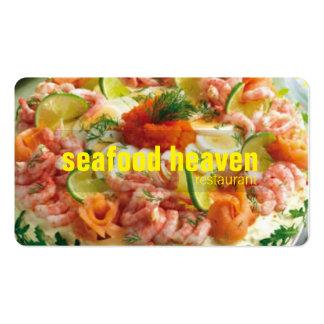 negocio de restaurante de los mariscos tarjetas de visita