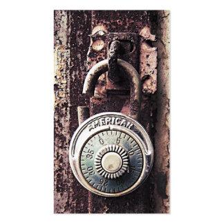 Negocio de seguridad americano oxidado quebrado de tarjetas personales