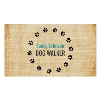 Negocio de servicios del mascota del caminante del tarjeta de negocio