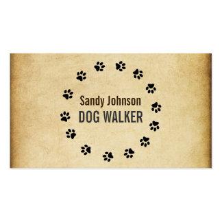 Negocio de servicios del mascota del caminante del tarjeta de visita