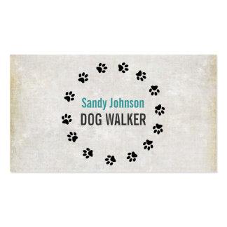 Negocio de servicios del mascota del caminante del tarjetas de visita